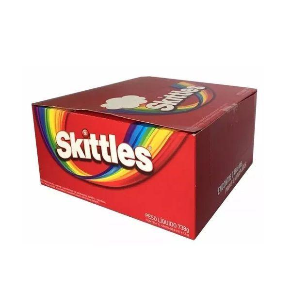 Bala Skittles contendo 14 pacotes de 38g