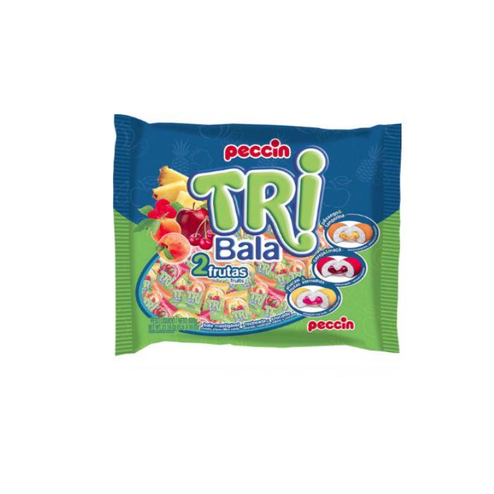 Bala Tribala 2 Frutas Peccin 500g