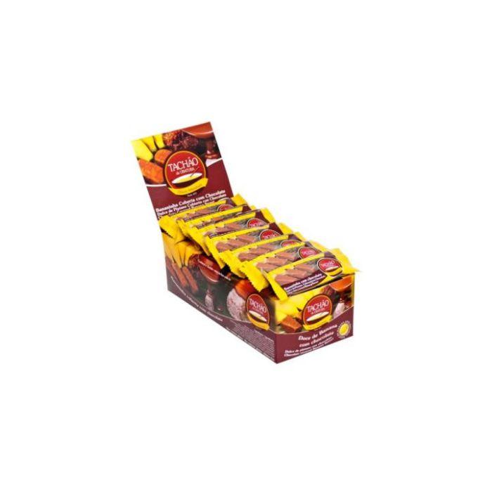 Bananinha Coberta com Chocolate Tachão 24 unidades de 25g cada