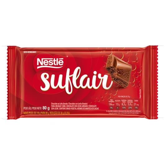 Barra de Chocolate Nestle Suflair 80g
