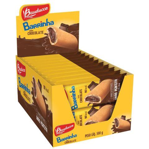 Barrinha Maxi Chocolate Bauducco contendo 20 unidades