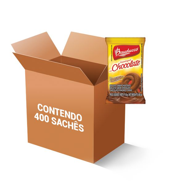 Biscoito Chocolate Sachê Bauducco contendo 400 unidades