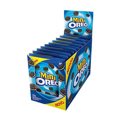 Biscoito Mini Oreo Original contendo 10 pacotes de 35g cada