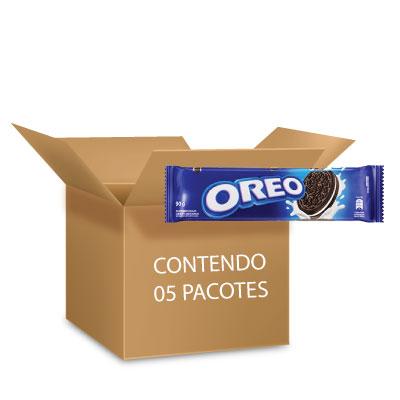 Biscoito Oreo Original contendo 5 pacotes de 90g cada