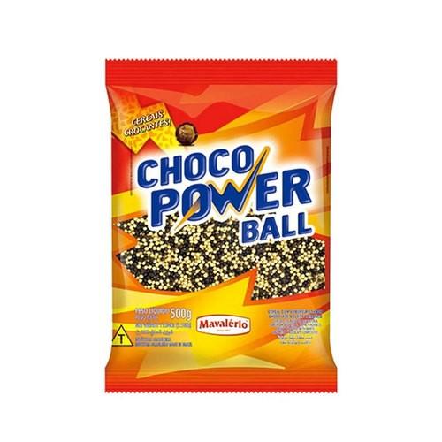 Choco Power Ball Micro Chocolate e Chocolate Branco Mavalerio 500g