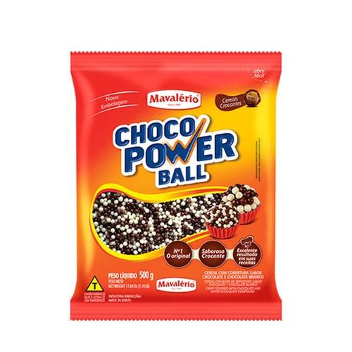 Choco Power Ball Mini Chocolate e Chocolate Branco Mavalerio 500g