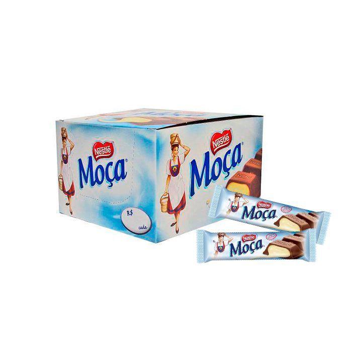Chocolate ao leite Moça com 24 unidades de 38g cada Nestle