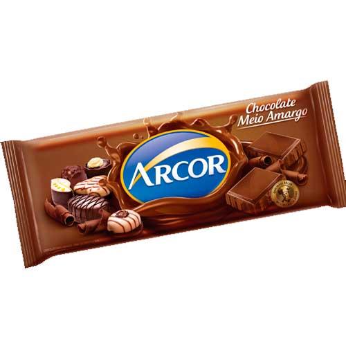 Chocolate em Barra Arcor Meio Amargo 1,05kg