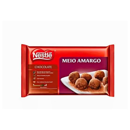 Chocolate em Barra Nestle Meio Amargo 1kg
