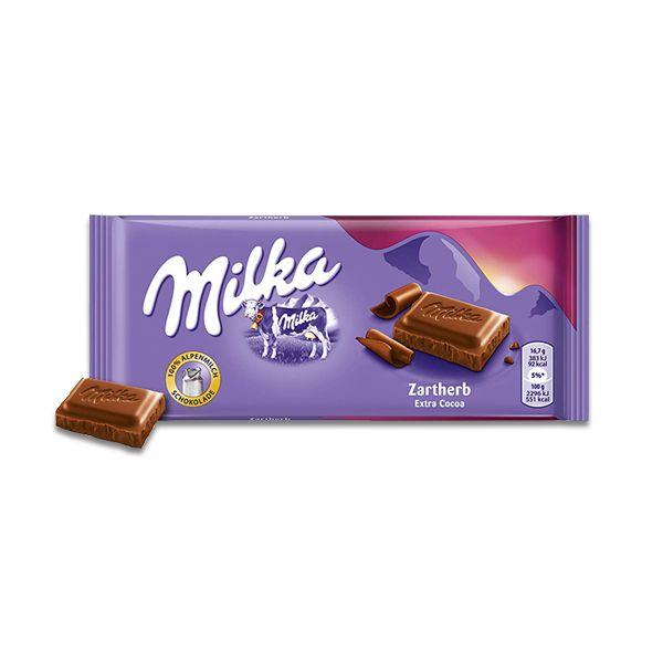 Chocolate Milka Extra Cacau Zartherb 100g
