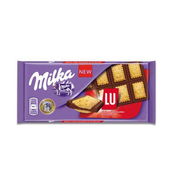 Chocolate Milka Lu Biscoito e Chocolate Alpen Milkch 87g