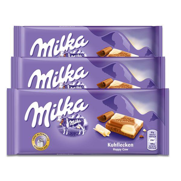 Chocolate Milka Malhado Kuhflecken 3un de 100g cada