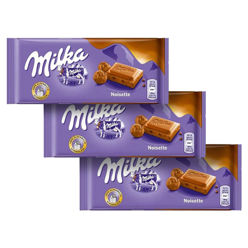 Chocolate Milka Noisette Creme de Avelã 3un de 100g cada