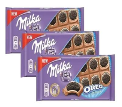 Chocolate Milka Oreo Sandwich 3un de 92g cada