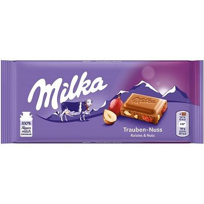 Chocolate Milka Raisins & Nuts 100g