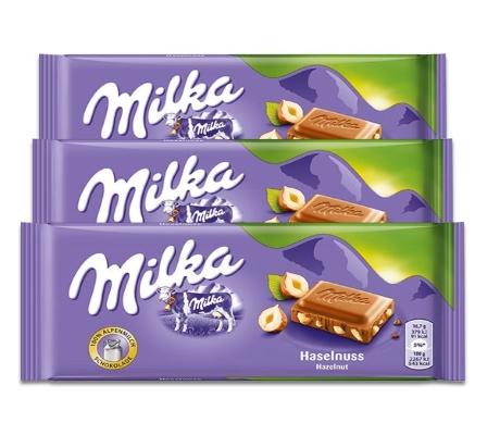 Chocolate Milka Raisins Nuts 3un de 100g cada