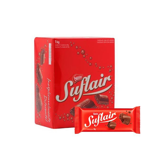 Chocolate Suflair Nestlé 20 un de 50g cada