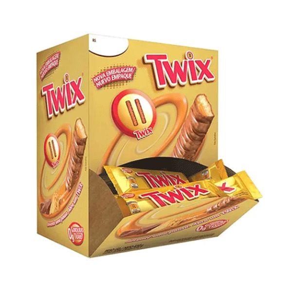Chocolate Twix com 30 unidades de 15g cada