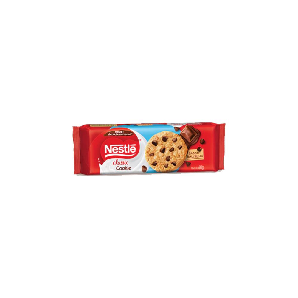 Cookies Classic Baunilha Nestlé 60g - 3 pacotes de 20g cada