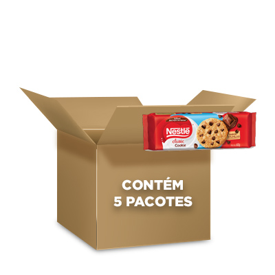 Cookies Classic Baunilha Nestlé 60g - contendo 5 packs com 3 pacotes de 20g cada