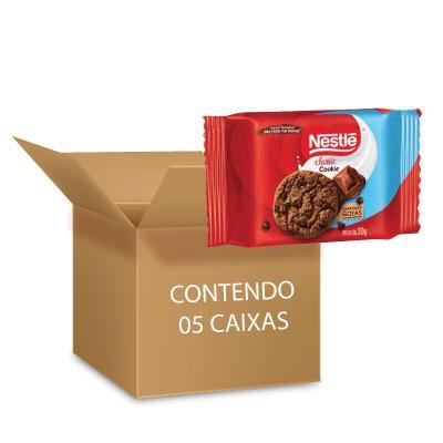 Cookies Classic Chocolate Nestlé 60g - contendo 5 packs com 3 pacotes de 20g cada