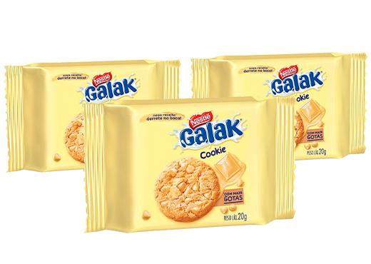 Cookies Galak Nestlé 60g - 3 pacotes de 20g cada