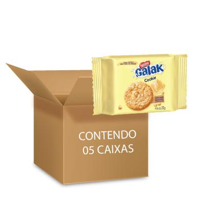 Cookies Galak Nestlé 60g - contendo 5 packs com 3 pacotes de 20g cada