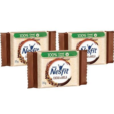 Cookies Integrais Nesfit Cacau e Avelã Nestlé 60g - 3 pacotes de 20g cada