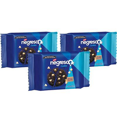 Cookies Negresco Nestlé 60g - 3 pacotes de 20g cada