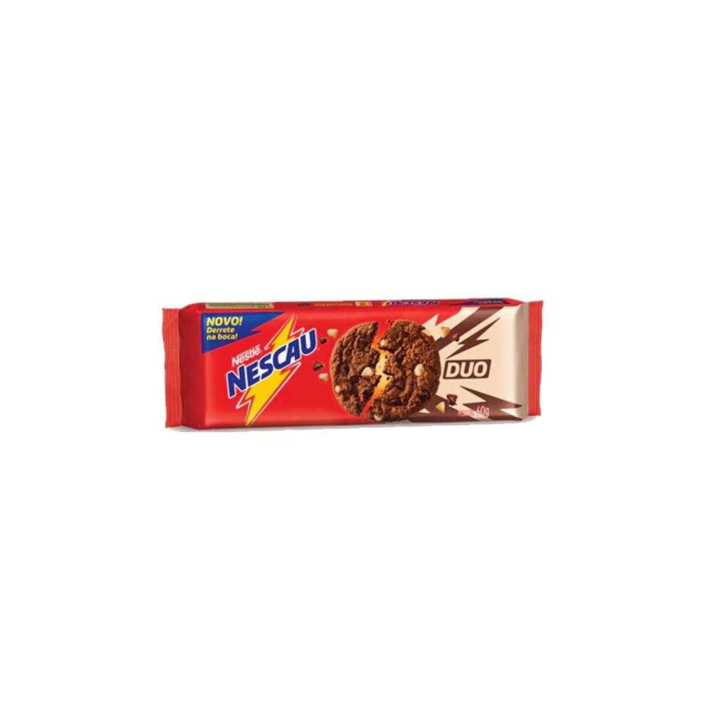 Cookies Nescau Duo Nestlé 60g - 3 pacotes de 20g cada