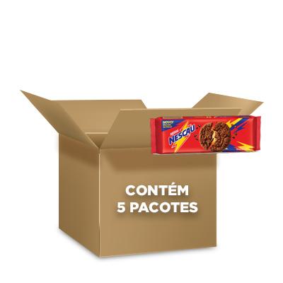 Cookies Nescau Nestlé 60g - contendo 5 packs com 3 pacotes de 20g cada