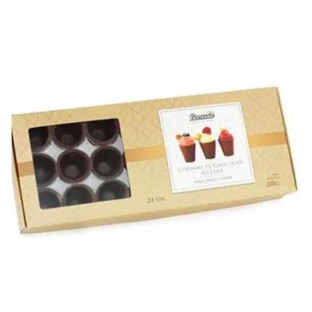 Copinhos de Chocolate ao Leite SEM protetor plástico Borussia contendo 24 unidades