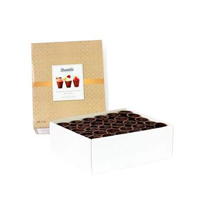 Copinhos de Chocolate ao Leite SEM protetor plástico Borussia contendo 60 unidades