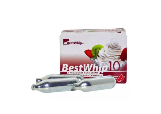 GAS BEST WHIP PARA CHANTILLY COM 10 UNIDADES 80g