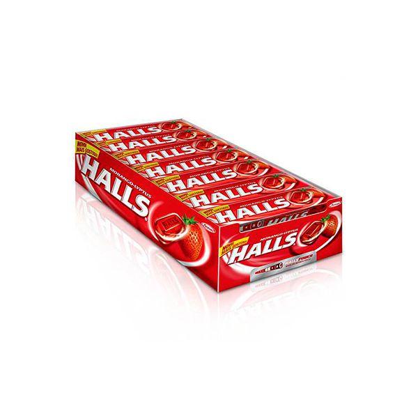 Halls Morango contendo 21 drops