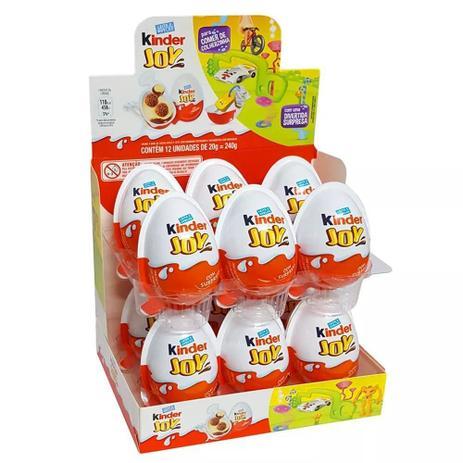 Kinder Joy Ferrero contendo 12 unidades
