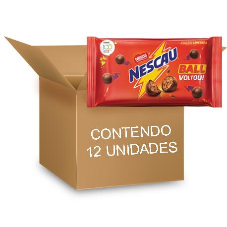 Nescau Ball contendo 12 pacotes de 75g cada