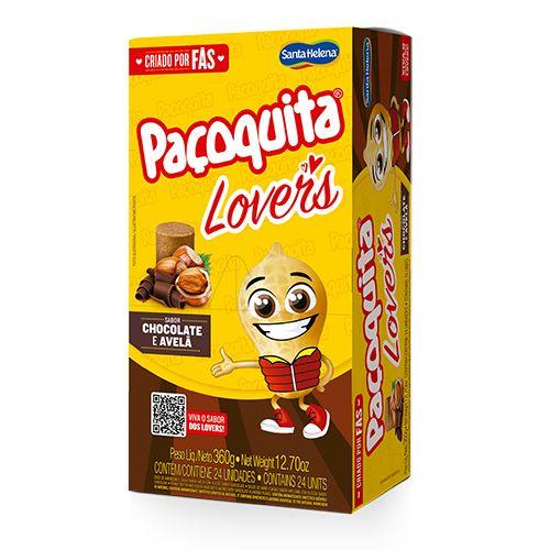 Paçoquita Lovers Chocolate e Avelã contendo 24 unidades