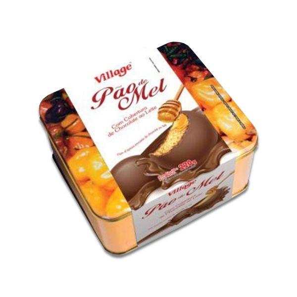 Pão de Mel coberto com Chocolate Lata Village 220g