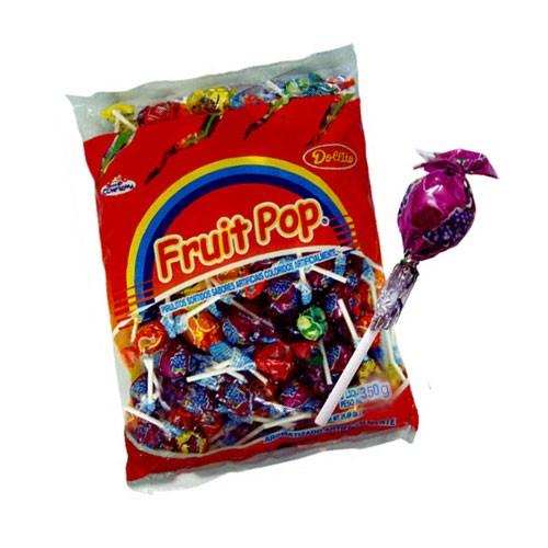 Pirulito Fruit Pop Sortido Dollito Confirma 350g - média de 50un por pacote