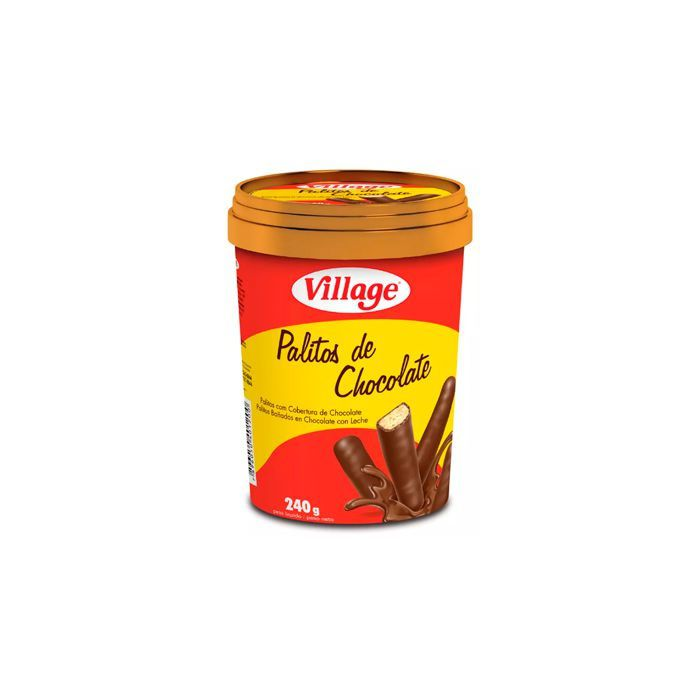Pote Palitos de Chocolate ao leite 240g Village