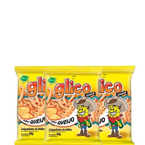 Salgadinho de Queijo Glico 3 pct de 40g cada