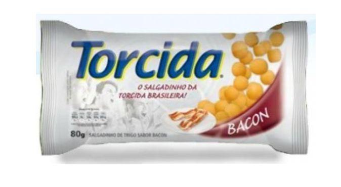 SALGADINHO TORCIDA SABOR BACON 3 UNIDADES DE 70g