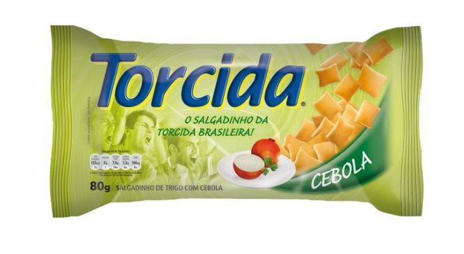 SALGADINHO TORCIDA SABOR CEBOLA 3 UNIDADES DE 70g