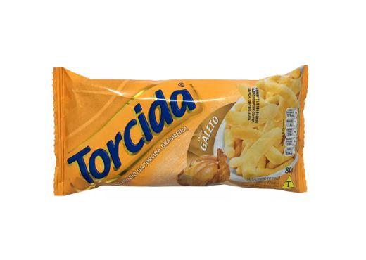 SALGADINHO TORCIDA SABOR GALETO 3 UNIDADES DE 70g