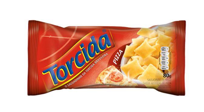 SALGADINHO TORCIDA SABOR PIZZA 3 UNIDADES DE 70g