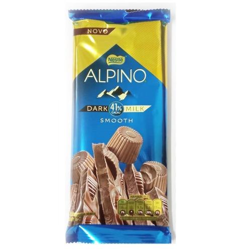 Tablete Alpino Smooth 41% Cacau Amargo Cremoso ao leite 85g