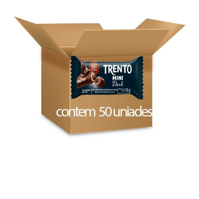 Trento Mini Dark 55% Cacau Peccin 800g - 50 unidades de 16g cada