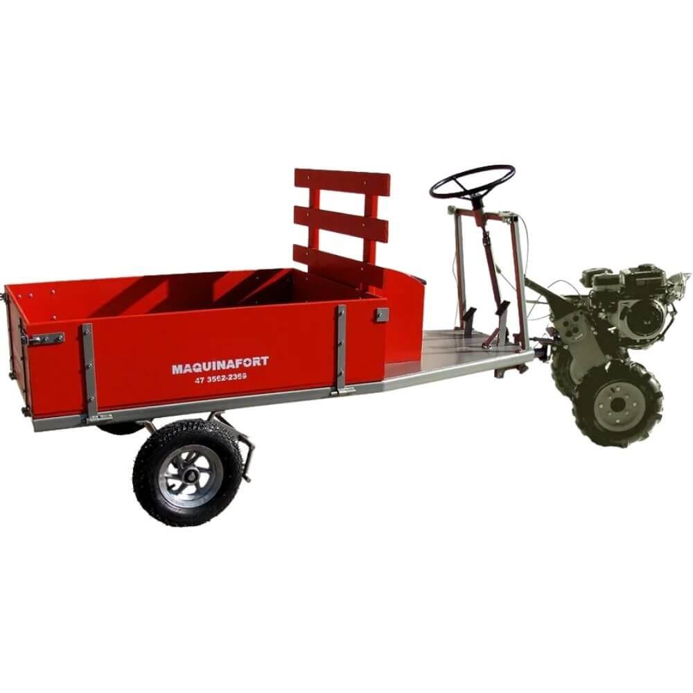 CARRETA P/ MOTOCULTIVADOR MOD 1600 R13 C/PNEU- (MAQ FORT)