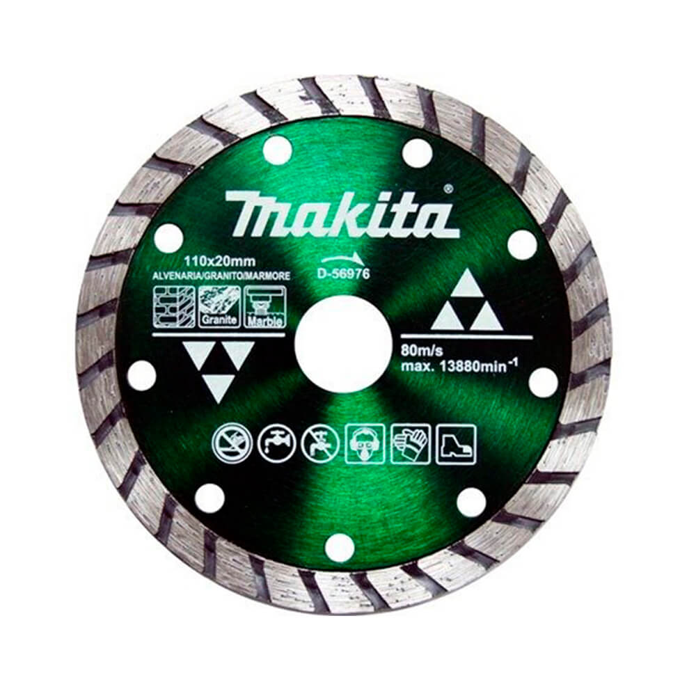 DISCO DIAMANTADO MAXTURBO CORTE 110X20MM (MAKITA)